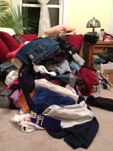 Round 1 clothes pile