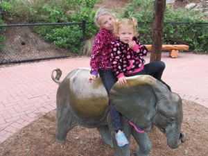 Amy's girls at the Zoo