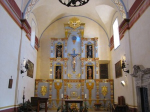 inside of Mission San Jose