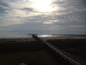 The dock at Grand Isle State Park