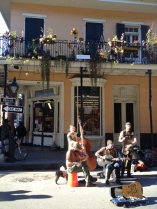 A band playing near Bourbon St.