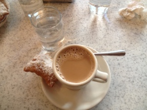 Cafe Du Monde coffee and beignet