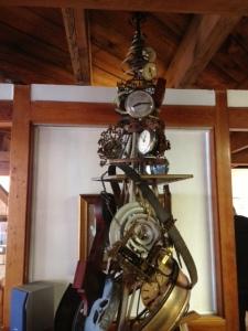 A tree made of clocks