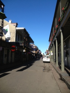 Looking down Bourbon St.