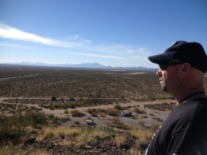 View from the top of the BLM land outside Tucson
