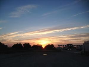 Sunrise at Chevron in Junction, TX