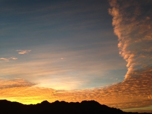 shining a new light on the story, a beautiful desert sunrise