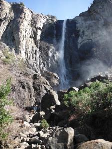 Bridalveil waterfall in Yosemite