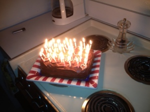 Yes, there are 40 candles! yikes