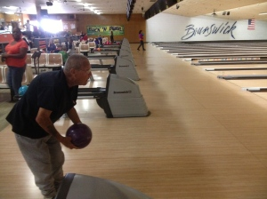We had a bowling and billiards day.