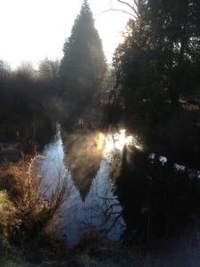Creek that runs by our RV