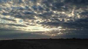 Sunset when we were at Grand Isle Louisana