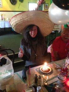 I even got to wear the big hat at Domingo's Mexican Restaurant