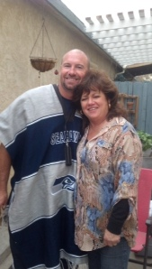 Yes folks, that's a Seahawks poncho Mitch got in Mexico.