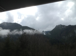 Going over the Snoqualmie Pass