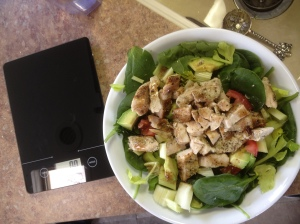 Chicken Cobb Salad, We also invested in a food scale, worth it's weight in ounces… haha
