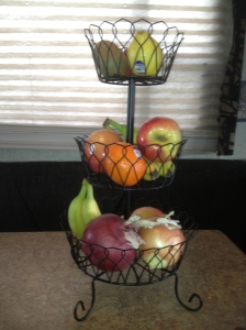 First time ever our fruit basket is full… of fruit