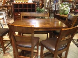 Beautiful and affordable! Loving our new dining room table that has a hidden leaf below.