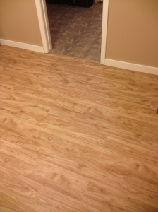 Our new floor Mitch put in from Home Depot.  It's Allure, it's awesome and the color is Piedmont Ash