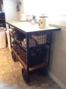 Rolling cart from Furniture Row we love